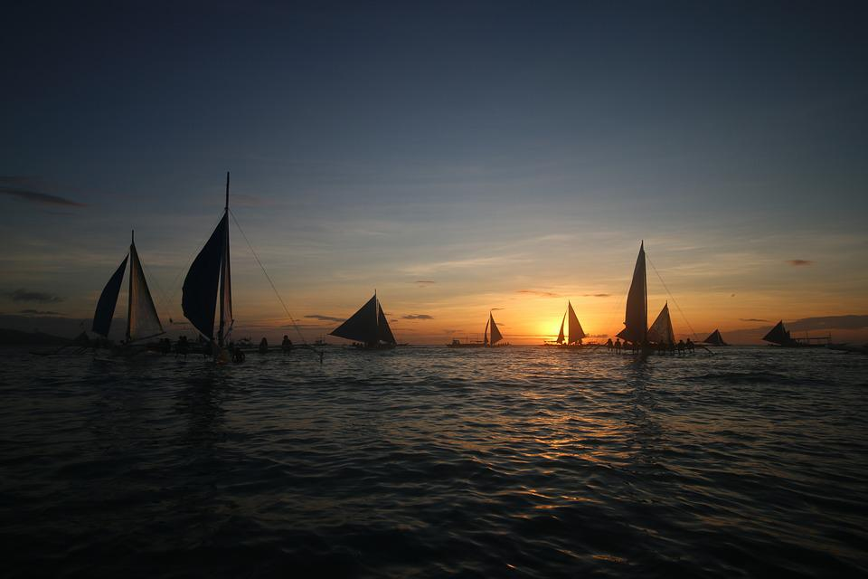 Boracay, Sunset, Philippines, Beach, Tropical, Ocean