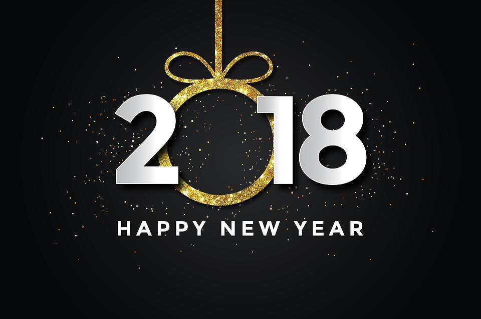 Pf 2018, Újév, Happy New Year, Új, Év, Ünneplés