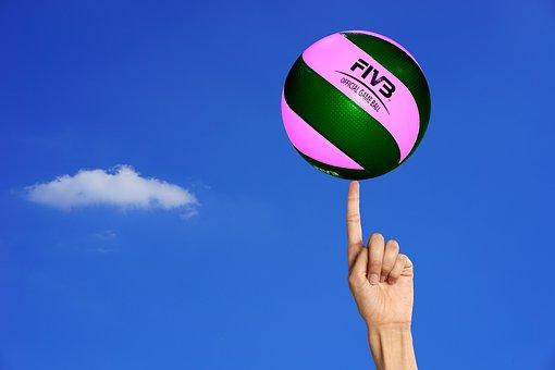 バレーボール, ボール, ボール ゲーム, バランス, ボール スポーツ