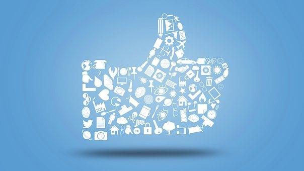 ような, のようにボタン, Facebook, 親指, バッジ, メディア