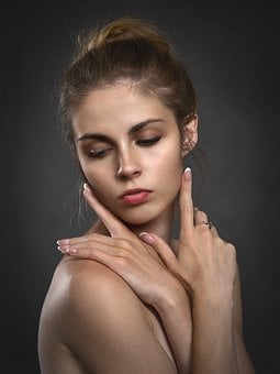 Girl, Hands, Portrait, Woman, Beauty