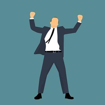 実業家, 腕, スーツ, はい, 率直です, 発生, オープン, 達成, 大人