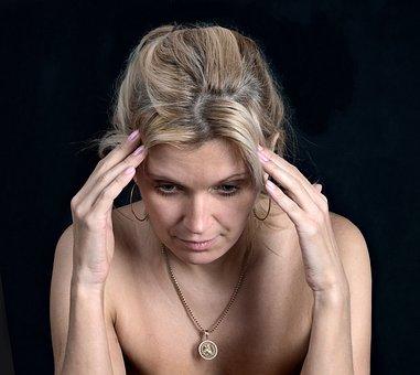 女性, 損失, 悲しみ, 肖像画, 顔, 女性の肖像画, 痛み, 暗がり