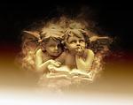 angel, children, small