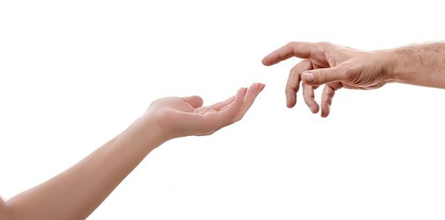 手, 女性, 男, タッチ, 指, 達する, サポート, 神様, 作成, ミケランジェロ