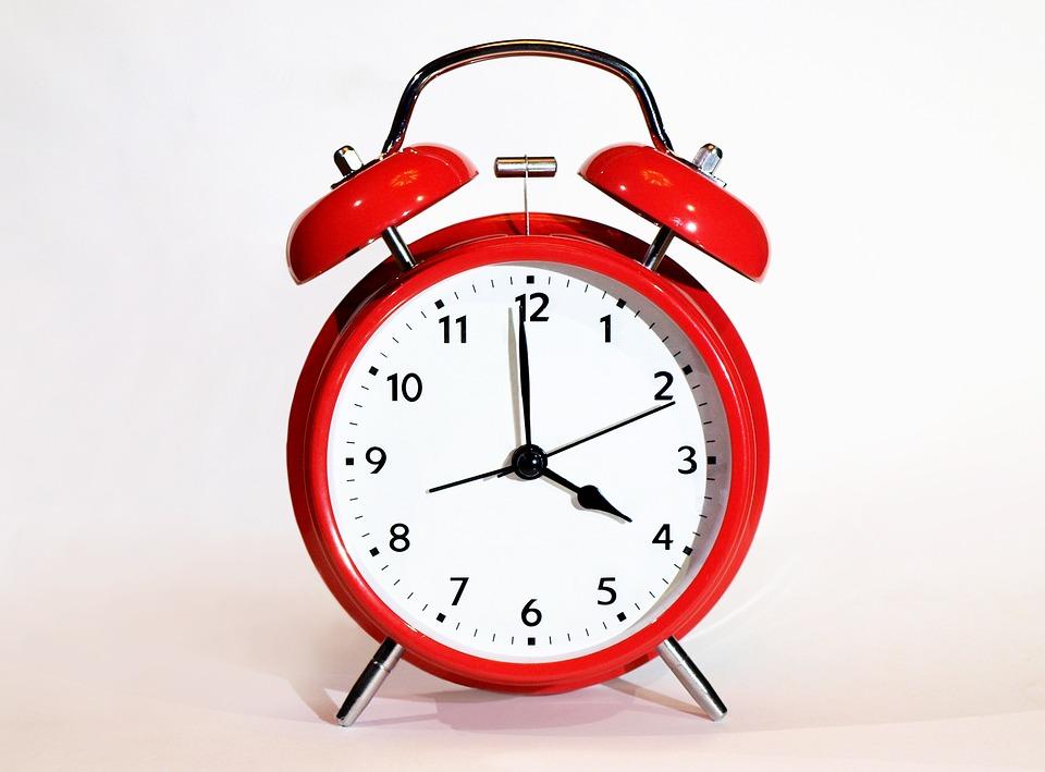 時計, クロック, アラームクロック, 締め切り, 分, ベル, 赤, 赤色のアラームクロック, 時間, 期間