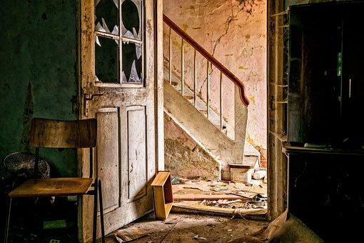失われた場所, 放棄された場所, ホーム, ルーム, スペース, 古い家, 古い