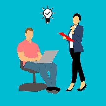 Idea, Man, Business, People, Tie, Sketch