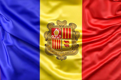 Andorra, Flag, Flag Of Andorra, Ensign