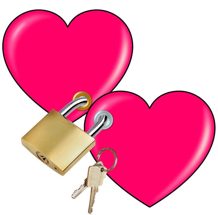 padlock key heart free image on pixabay