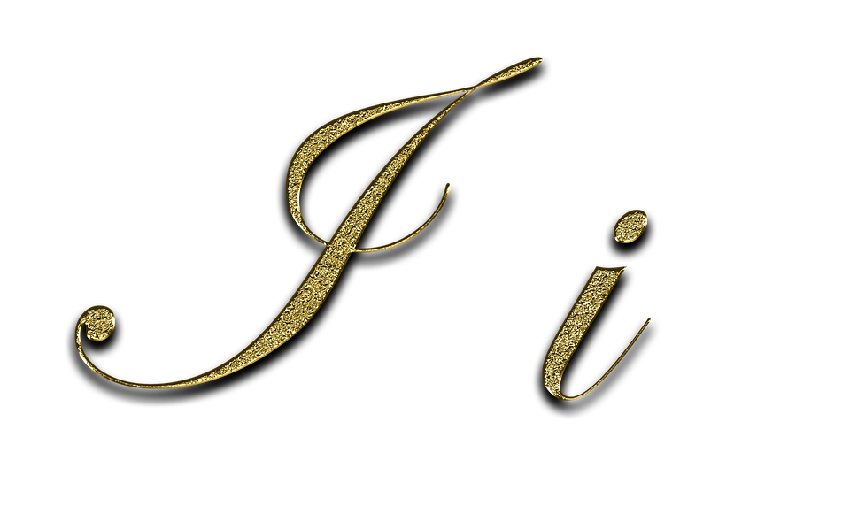 Letter I Gold 183 Free Image On Pixabay