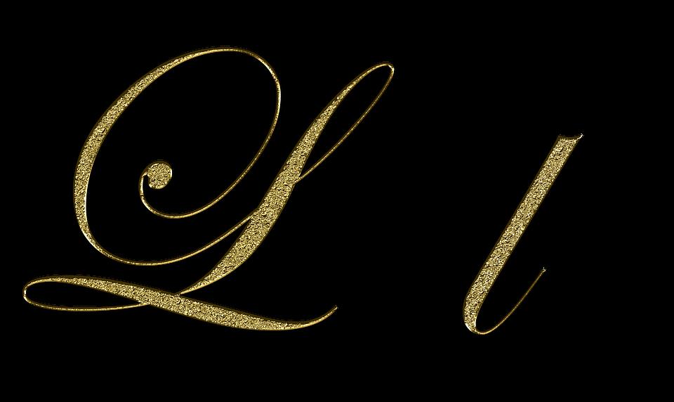 Letter L Gold Free Image On Pixabay