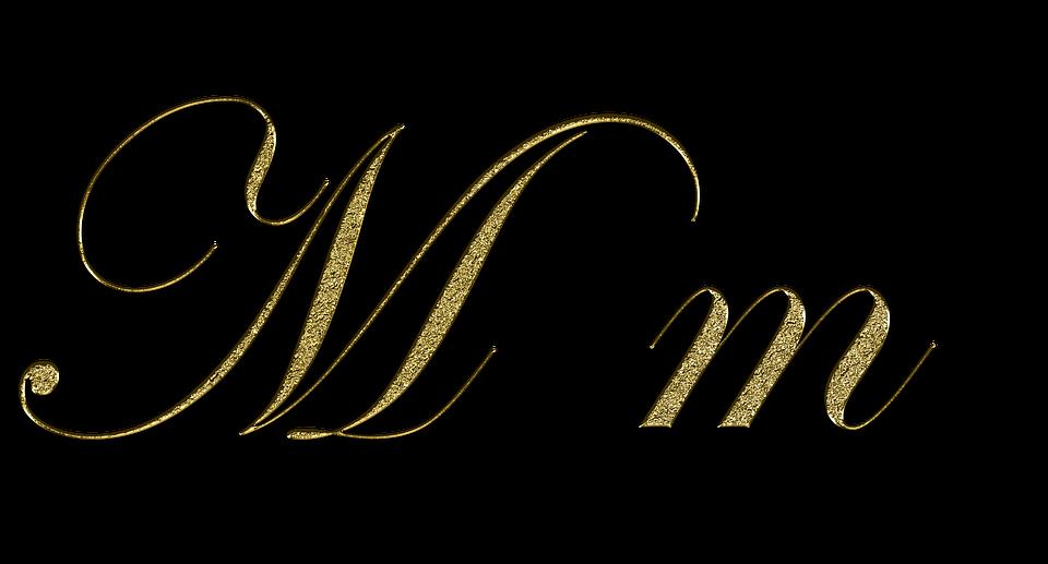 graphic regarding M&m Coupon Printable named Surat M Emas - Gambar gratis di Pixabay