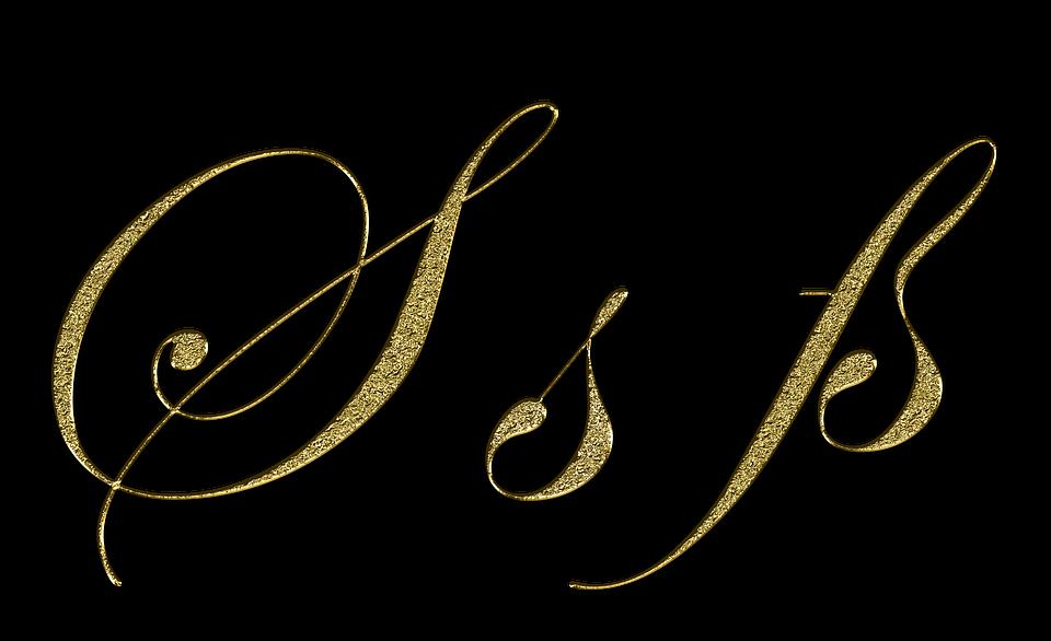 Letter S Gold Ss Font Sharp Write