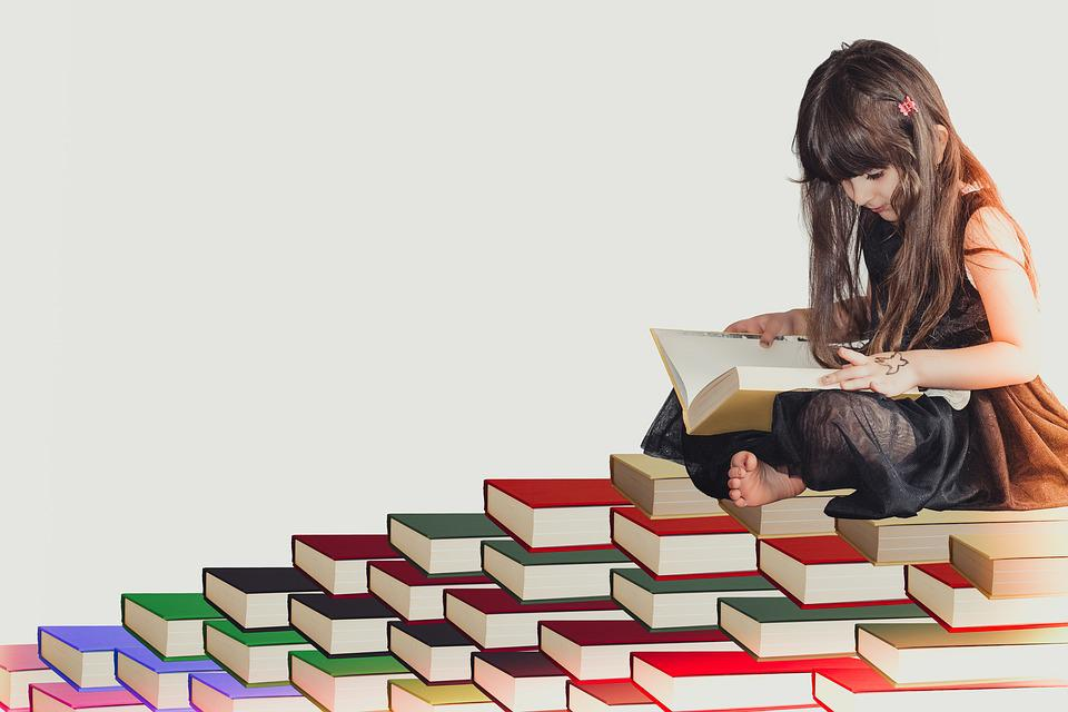 Girl, White, Fun, Kid, Literature, Elementary, Gifted Child, Student, Reading, Study