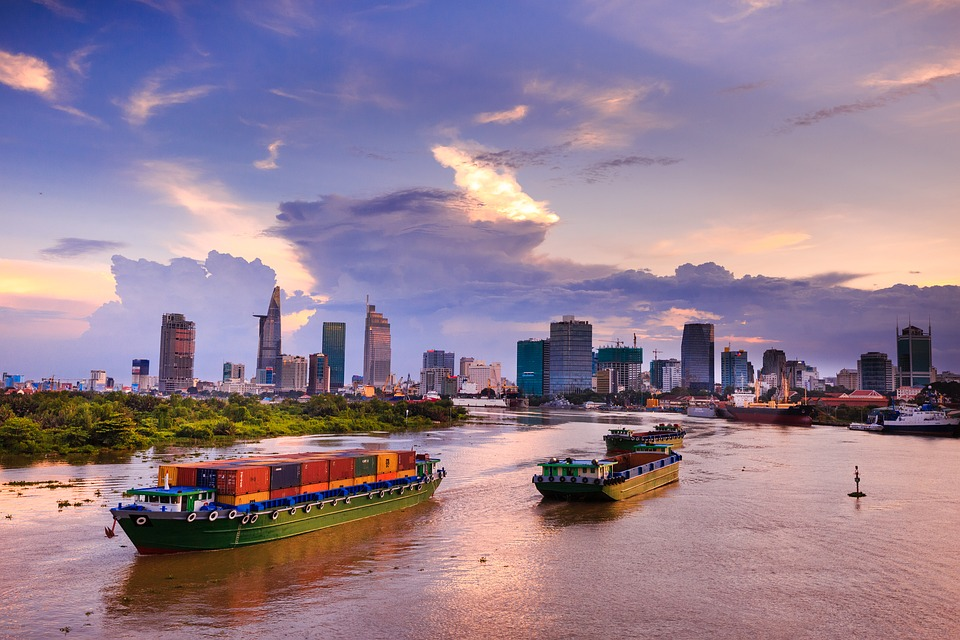Ho Chi Minh, City, Vietnam, Sai Gon, Night, Sunset