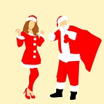 santa, assistant, christmas