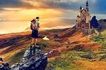 travel, landscape, sunset
