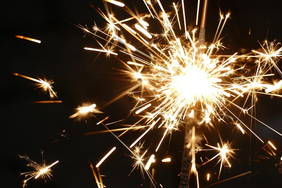 Celebração, Festival, Sparkler, Fogos De Artifício