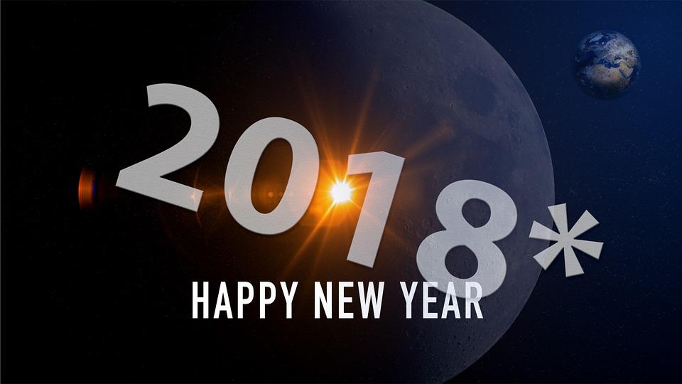 Neu Jahr Glückwunsch 2018 Kostenloses Bild Auf Pixabay