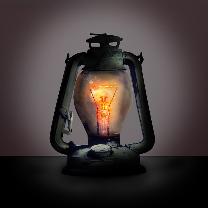 Lantern, Lamp, Filament, Light Bulb, Mood, Light