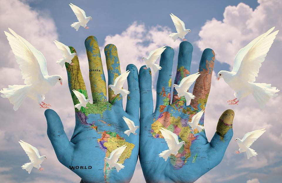 World, Harmony, Continents, Earth, Hope, Peace