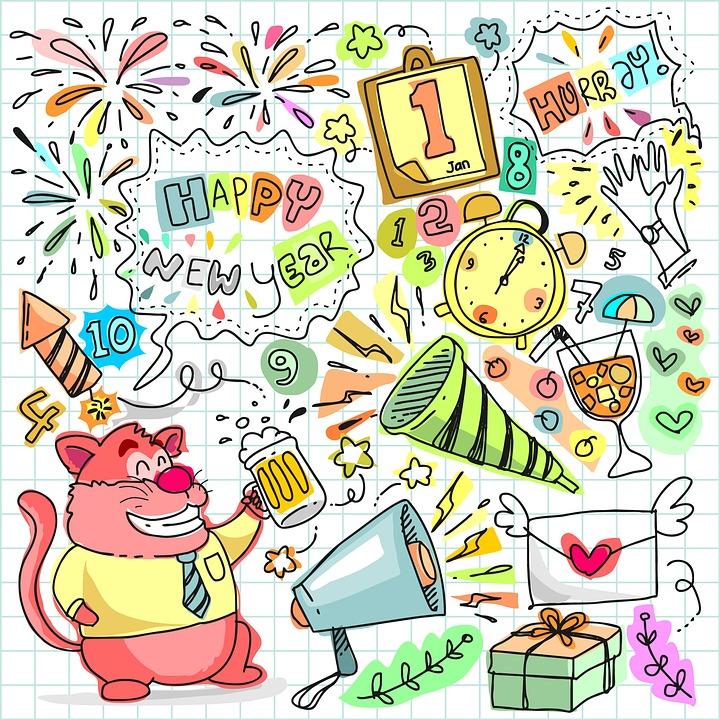 ny år fest Doodle Ny År · Gratis billeder på Pixabay ny år fest