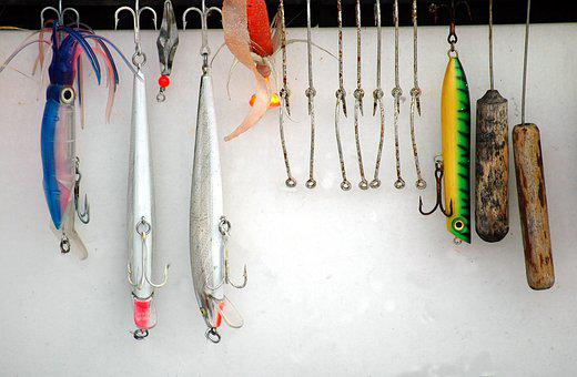 Hanging, Hook, Lures, Fishing