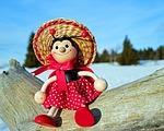 ladybug, figure, wood
