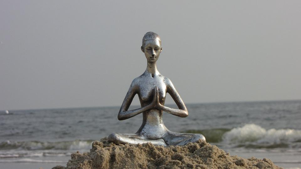 Yoga, Figura, Vacanza, Relax, Estate, Riposo, Rilassato