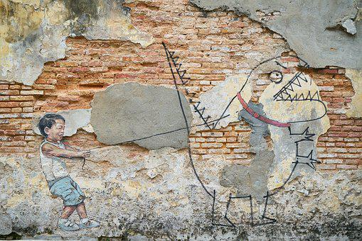 Stone, Brick, Old, Wall, Graffiti, Art