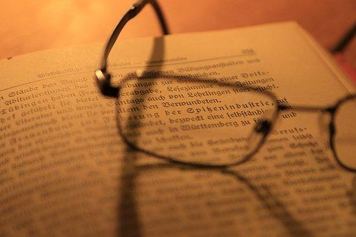 용지, 안경, 문서, 회사, 책, 기분, 휴식, 작업 후