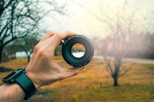 Lente, câmera, tirar fotos, fotografia