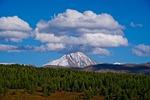 mountain, sky, clouds