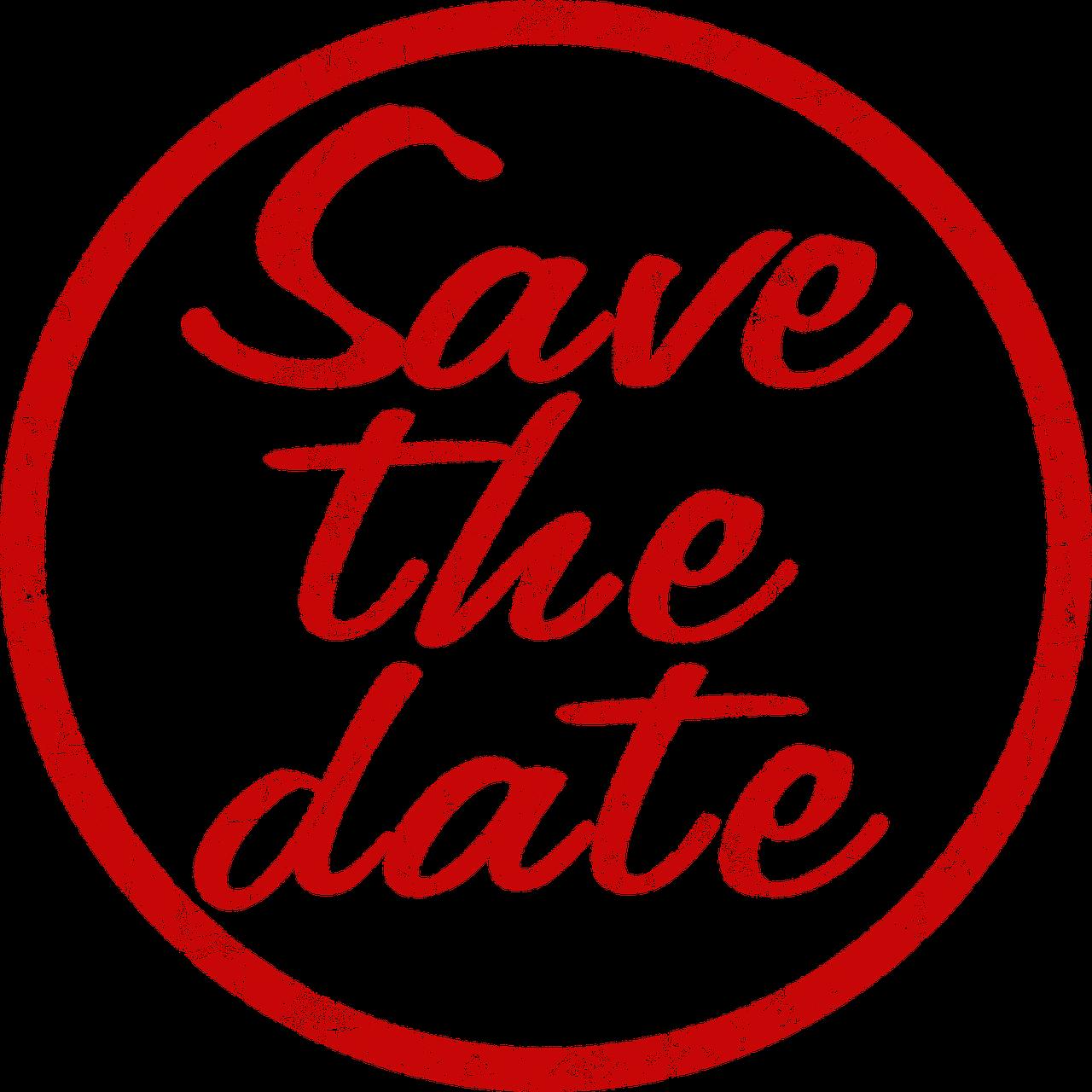 Tampon En Caoutchouc Save The Date - Image gratuite sur Pixabay