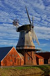 sky, windmill, dutch