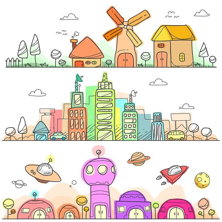 Kota Doodle Lanskap Gambar Gratis Di Pixabay