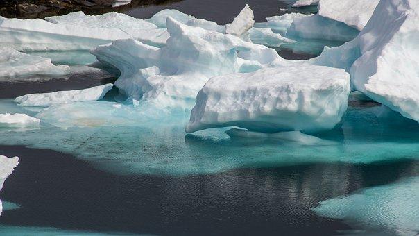 Drift Ice, Frozen, Sea, Wilderness, Ice