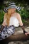 hat, wide-brimmed hat, elegantly