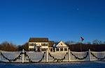house, christmas, fence