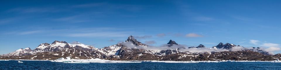 Panorama, Drift Ice, Frozen, Mountain, Sea, Wilderness
