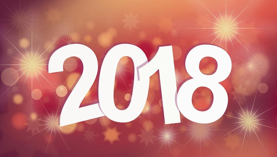 celebration eve new year bright 2018