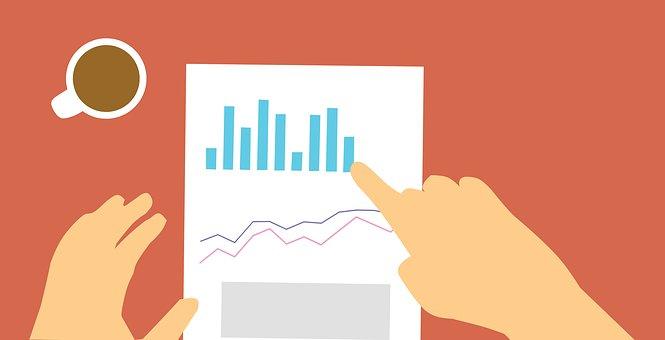 レポート, 経費管理, コスト控除, 売り上げ高, データ, 金融, アカウント
