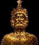 sculpture, golden