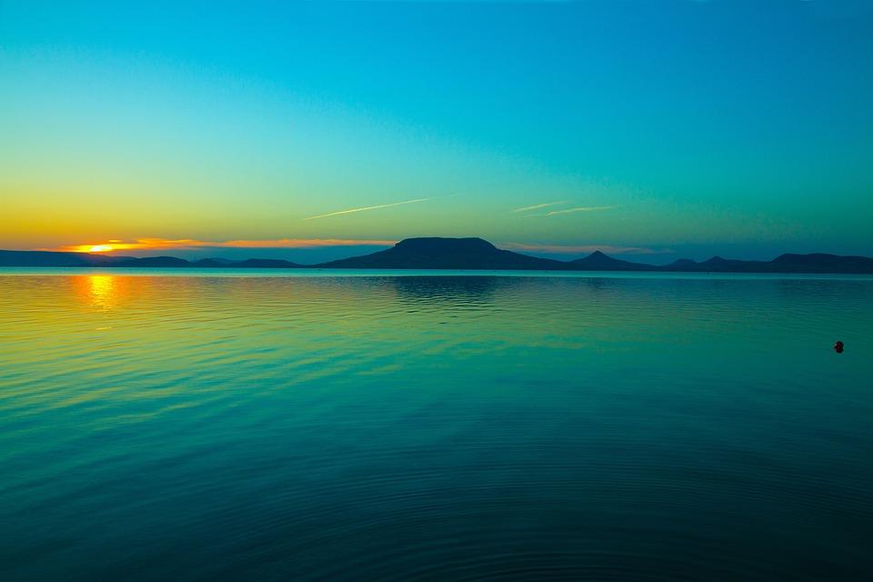 誰もいない, 身体の水, サンセット, 1 日 (秒), 自然, Tropic, ビーチ, 旅行, バラトン湖