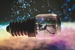 light bulb, light, lamp