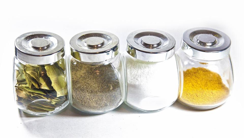 Pot, Conteneur, Manger, Épice, Herb, Sel