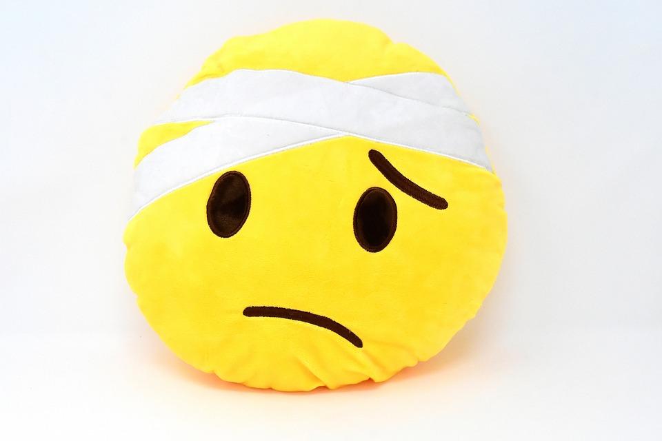 Smiley, Wajah, Emoticon, Sedih, Sakit, Segera Sembuh
