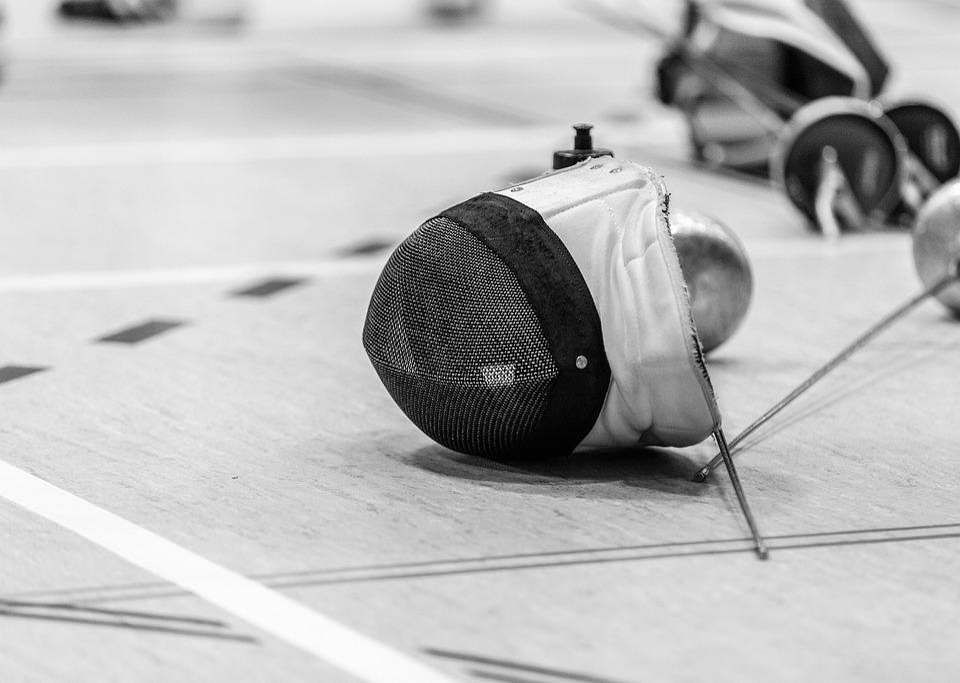 Deporte, Esgrima, La Competencia, Máscara De Esgrima