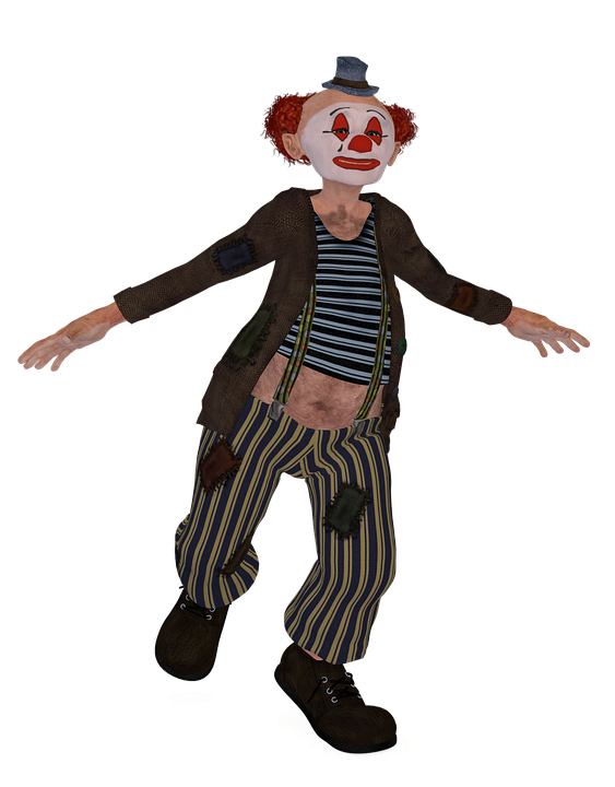 Humor Funny Dance Red Hair Man Pose Shoes Clown